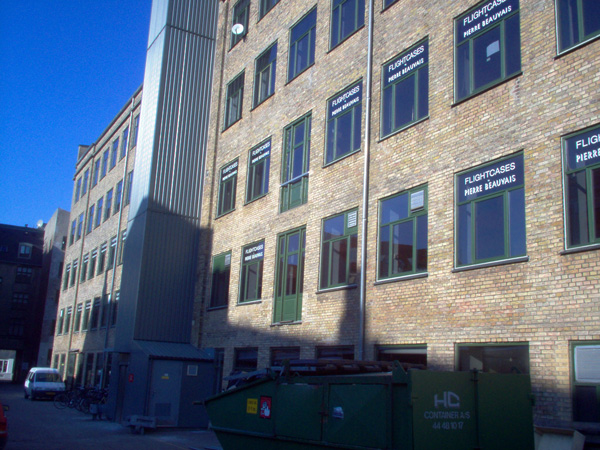 Flightcase Factory in central Copenhagen 1984 - 1996